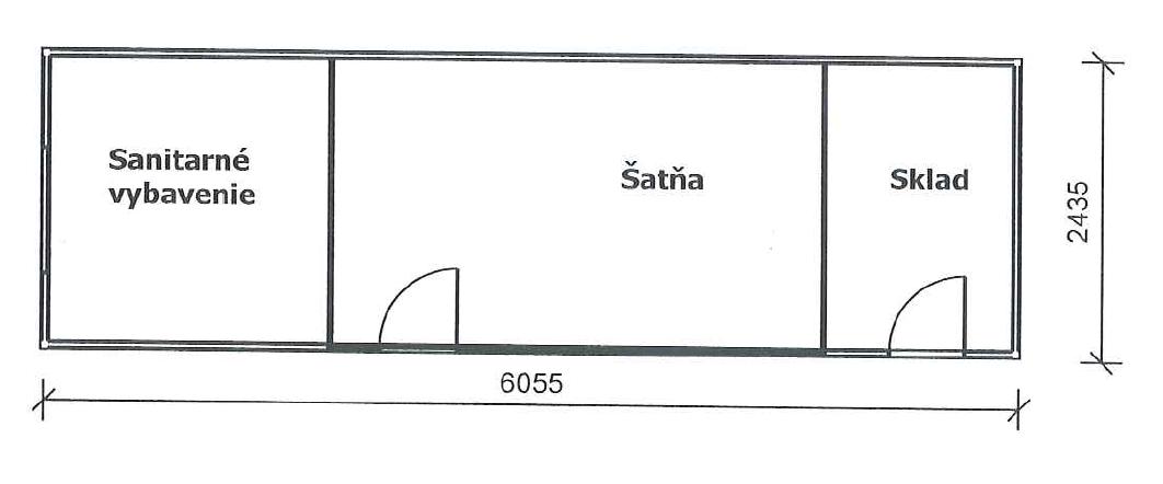 nákres sanitárna bunka